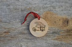 Truck/Tree Decoration Lodge Christmas Ornament Holiday