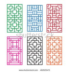 Find Korean Ornament Door Window Wall Fence stock images in HD and millions of other royalty-free stock photos, illustrations and vectors in the Shutterstock collection. Home Window Grill Design, Window Grill Design Modern, Grill Door Design, House Front Design, Fence Design, Sliding Wall, Sliding Windows, Windows And Doors, Door Grill