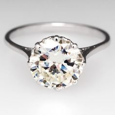 2 Carat Antique Engagement Ring