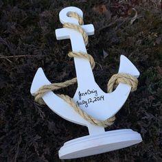Custom Anchor Wedding Centerpiece, PERSONALIZED Nautical Wedding Decor on Etsy, $43.00