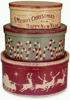 Vintage Christmas tins