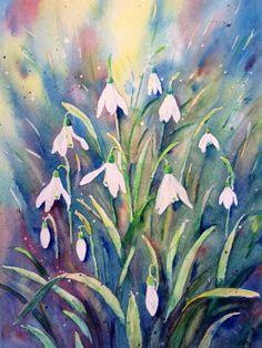 Original watercolour painting spring flowers by CornerCroft, £40.00