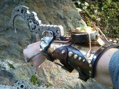 Steampunk hook gauntlet by Skinz-N-Hydez.deviantart.com on @deviantART