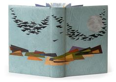 Don't Look Now and Other Stories By Daphne Du Maurier The Folio Society, 2007 Bound 2008. 242 x 162 x 50mm Full pale blue-green goatskin with multi-coloured leather onlays and a silver-foil leather inlay. Edges are hand painted in acrylics with matching silk headbands. Full dark blue leather doublures decorated with leather onlays. Housed in a pale blue-green and ecru cloth covered box lined in blue suede. Bound by Simeon Jones.