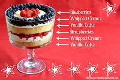 4th of July recipes Strawberry Trifle