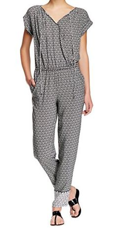 053cf1b64882 Max Studio White Print Womens Small Jumpsuit Black S -- Learn more by  visiting the · Romper ...