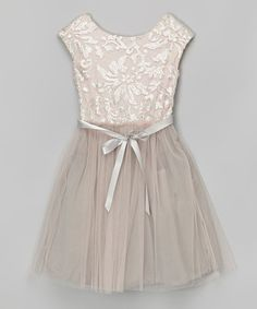 Look at this Speechless Blush Lace Dress on #zulily today!