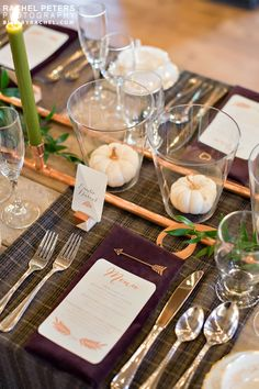 Fall bronze & copper barn wedding.