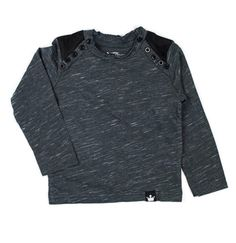 Littlest Prince Couture Charcoal & Black Suede Long-Sleeve Top - Infant, Toddler & Boys   zulily