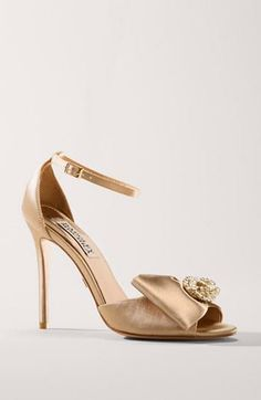 Stunning gold sandal for a bride | Badgley Mischka