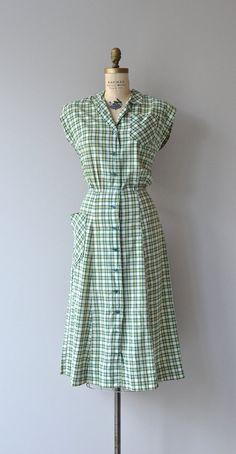 Rotary Club dress vintage 50s dress 1950s plaid by DearGolden