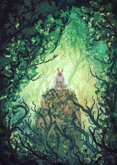 The Last Wolf ( mononoke-ghibli) by AnatoFinnstark Hayao Miyazaki, Totoro, Art Studio Ghibli, Studio Ghibli Movies, Mononoke Forest, Mononoke Anime, Personajes Studio Ghibli, Studio Ghibli Background, Howls Moving Castle