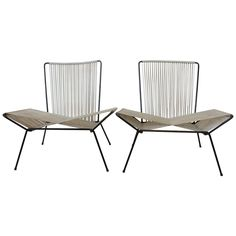 Gorgeous garden chairs! Alan Gould Style Mid-Century Garden Chairs | From a unique collection of antique and modern garden furniture at https://www.1stdibs.com/furniture/building-garden/garden-furniture/
