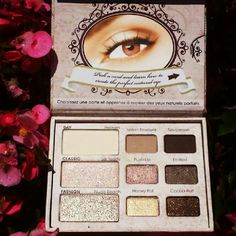 These are my every day 'go-to' eye shadows. Too Faced 'Natural Eye' palette
