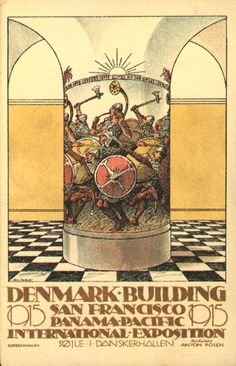 Denmark Bldg, Panama Pacific International Exposition, San Francisco, 1915..