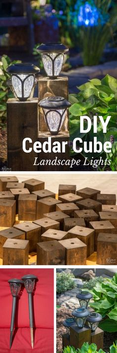 Check out the tutorial on how to make easy DIY cedar outdoor lights @istandarddesign