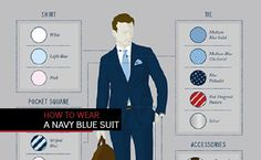 Make a statement by correctly wearing the most iconic suit for men. Learn how to wear a navy blue suit complete with a detailed infographic.