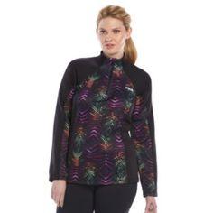 Plus+Size+FILA+SPORT+Printed+Dash+Pullover+Jacket