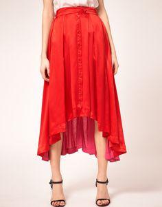 Asos- Preen Line Amber Skirt Asymetric Silk & Jersey Panels