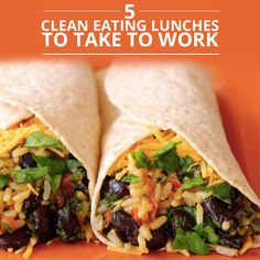 5 Clean Eating Lunches - bean burrito