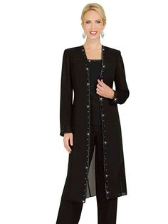Misty Lane 13539 Womens Formal Evening Duster Jacket Pant Suit Sizes 12 To 34 Ebay