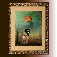 Zodiac Art Goth Girl Art Digital Painting   by RusticGoth on Etsy