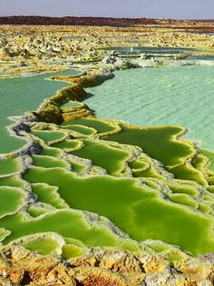 Acid lakes at the Dallol Volcano in Danakil Desert, Ethiopia. Acid lakes at the Dallol Volcano in Danakil Desert, Ethiopia. Places To Travel, Places To See, Places Around The World, Around The Worlds, Beautiful World, Beautiful Places, Beautiful Pictures, Foto Nature, Photos Voyages