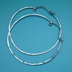 Large Niobium Hoop Earrings, 1 3/4 in Skinny Hoops, Boho Hoops, Hippie Hoops, Hypoallergenic Earrings