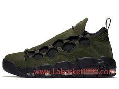 best website 1faf1 aef55 Nike Air More Money QS AJ7383-300 Chaussures de BasketBall Pas Cher Pour  Homme Vert