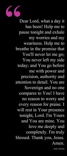 Beautiful Prayer!
