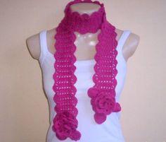 cachecol de croche femininos