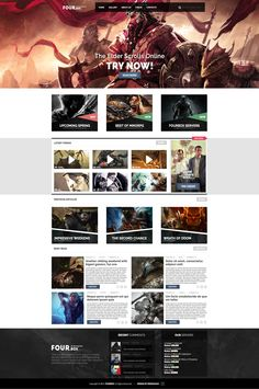 FOURBOX - Gaming site design by axds #webdesign