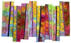 Karen Schulz: Fiber Artist - Gallery 4 - Abstract Work - Wowwie!!
