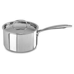 KitchenAid Tri-Ply Stainless Steel 3.0-Quart Saucepan with Lid