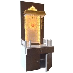 Designer Pooja Temple 5 FT With Multiple Storage