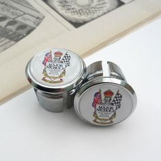Vintage Style Major Nichols Chrome Racing Bar Plugs, Caps, Repro £5.99