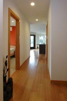 Hallway lighting and floor