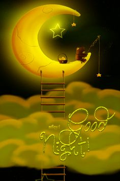 Cute Good Night and Sweet Dreams GIFs with Quotes Sweet Good Night Images, Good Night Beautiful, Cute Good Night, Night Love, Good Night Sweet Dreams, Good Night Moon, Beautiful Gif, Good Morning Good Night, Goid Night