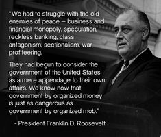 We let our guard down somehow, and the rich have absolutely taken over. It took FDR a Democratic Socialist to fix the mess then, and it will take another one now in Bernie Sanders to fix the damage of GOP trickle-down policies ! Fdr Quotes, Political Quotes, Troll, Celebridades Fashion, Roosevelt Quotes, We Are The World, Thats The Way, State Government, Old Things