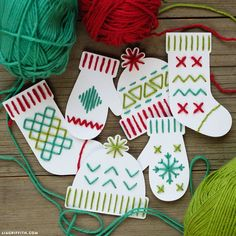 Christmas Yarn Art Kid's Craft