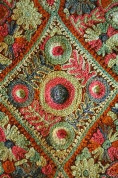 BEAUTIFUL ANTIQUE BEDOUIN EMBROIDERED FOLK RUG (02/15/2007) - hand embroidered Beduin kilim rug or carpet.These sophisticated court rugs were the humble carpets and rugs of the village and nomadic people of the Middle East (Bedouins). dates to approximately the 1930's.