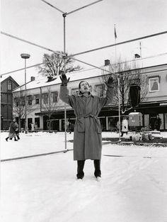 Per Kirkeby standing on the site of a work in progress in Lund, Sweden (1991)  IBL Bildbyrå, Sweden. Photo: © ID Kristiansen