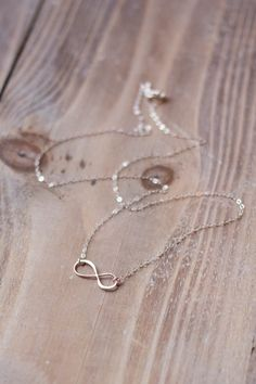 Infinity Necklace - Sterling Silver - Simple Everyday Necklace - Layering Necklace- Mother's Day Gift on Etsy, $22.00