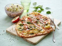 Fladbrød med kartofler og bacon En smagfuld pizza fra Familie Journals Slankeklub