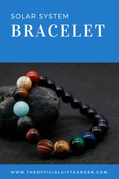An elastic bracelet representing the planets of our solar system. Cool Gifts For Women, Gifts For Kids, Solar System Bracelet, Star Gaze, Christmas Gift For You, Christmas Time, Boho Fashion Fall, Unique Birthday Gifts, When I Grow Up
