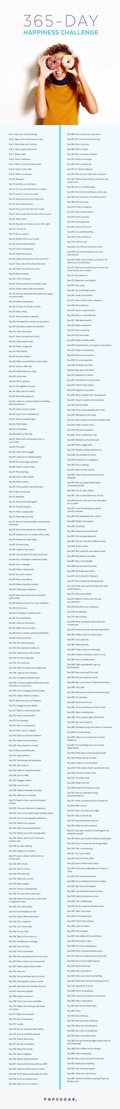 Celebrate your happiness with this 365 Day Happiness Challenge!