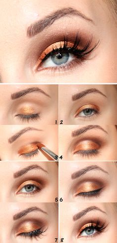 Tutorial: Gold, by Helen Torsgården. More awsome makeup tips on http://blogg.veckorevyn.com/hiilen/2012/03/27/tutorial-gold/