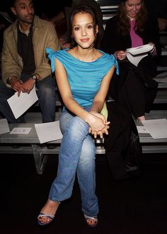 From Jessica Alba to Blake Lively, 15 Glorious Old Fashion Week Photos via @WhoWhatWear
