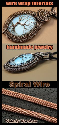 """Step by step master classes - Pendants """"Tree of Life"""" with their own hands.The book has 160 pages, more than 300 high-resolution photos. Wire Wrapped Pendant, Wire Wrapped Jewelry, Wire Jewelry, Handmade Jewelry, Viking Knit, High Resolution Photos, Wire Work, Stone Beads, Wire Wrapping"""
