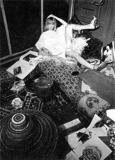 Anita Pallenberg photographed on the set of Performance by Cecil Beaton